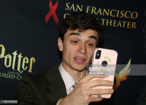 Benjamin Papac poses at the opening night after party for Harry Potter and The Cursed Child Parts One 2 at August Hall on December 1 2019 in San...
