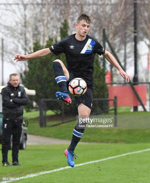 Benjamin Paton of Blackburn Rovers in action during the Liverpool v Blackburn Rovers U18 Premier League game at The Kirkby Academy on March 18 2017...