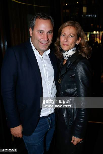 Benjamin Patou and Anne Gravoin attend the Reopening of the Hotel Barriere Le Fouquet's Paris decorated by Jacques Garcia at Hotel Barriere Le...
