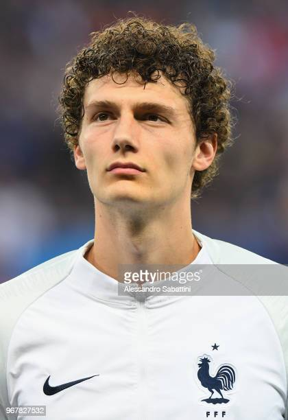 Benjamin Pavarad of France looks on before the International Friendly match between France and Italy at Allianz Riviera Stadium on June 1 2018 in...