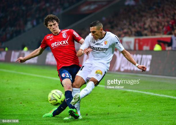 Benjamin PAVARD / Alharbi EL JADEYAOUI Lille / Lens 35eme journee de Ligue 1 Photo Dave Winter / Icon Sport