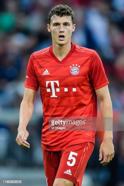 Benjamin Pavard of FC Bayern Munich during the Preseason Friendly match between Tottenham Hotspur FC and Bayern Munich at Allianz Arena on July 31...
