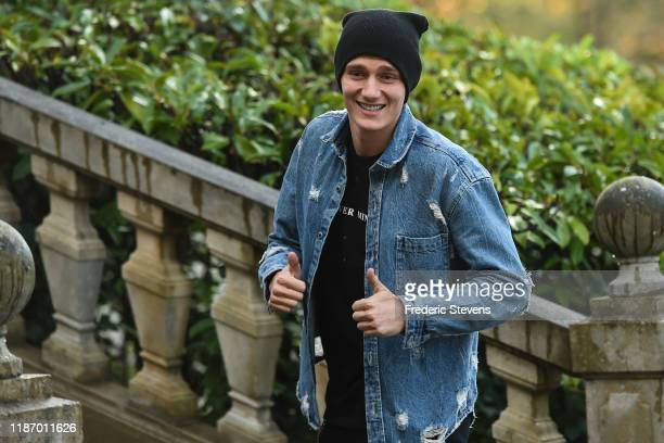 Benjamin Pavard of France arrives ahead of a training session on November 11 2019 in Clairefontaine France France will play against Moldova in their...