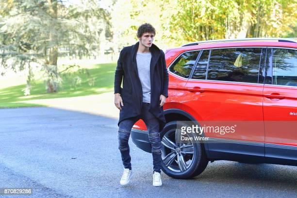 Benjamin Pavard of France arrives at the Centre National du Football in Clairefontaine en Yvelines France on November 6 2017