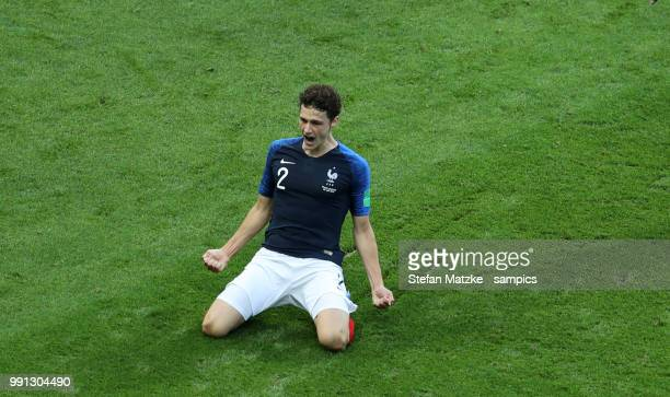 Benjamin Pavard of France celebrates as he scores the goal 22 during the 2018 FIFA World Cup Russia Round of 16 match between France and Argentina at...