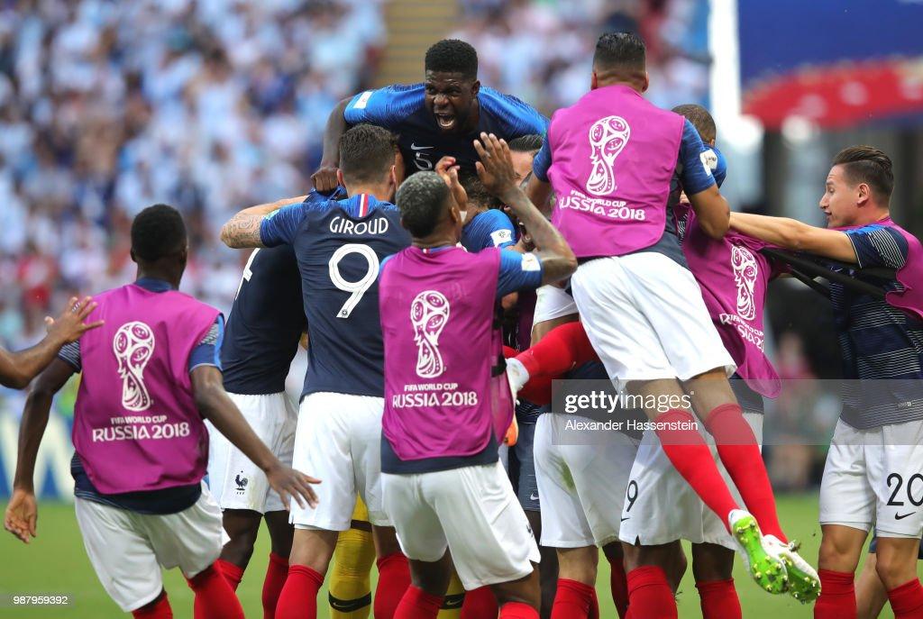 France v Argentina: Round of 16 - 2018 FIFA World Cup Russia : Foto di attualità