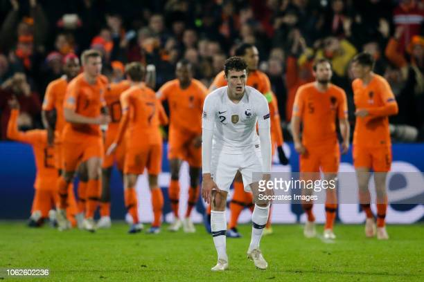 Benjamin Pavard of France disappointed after the 10 during the UEFA Nations league match between Holland v France at the Feyenoord Stadium on...