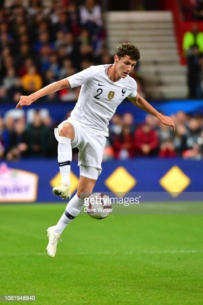 Benjamin Pavard of France during the international friendly match between France and Iceland on October 11 2018 in Guingamp France