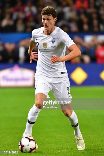 Benjamin Pavard of France during the international friendly match between France and Iceland on October 11, 2018 in Guingamp, France.