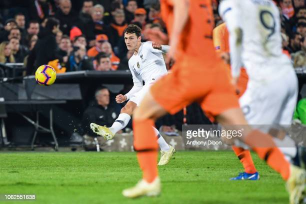 Benjamin Pavard of France during the Nations League match between Netherlands and France at De Kuip on November 16 2018 in Rotterdam Netherlands