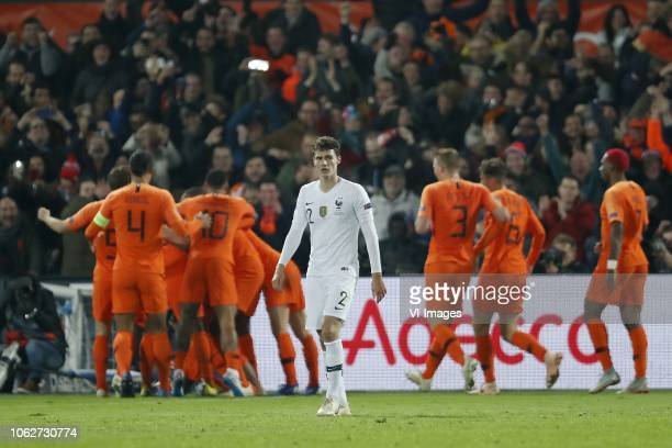 Benjamin Pavard of France during the UEFA Nations League A group 1 qualifying match between The Netherlands and France at stadium De Kuip on November...