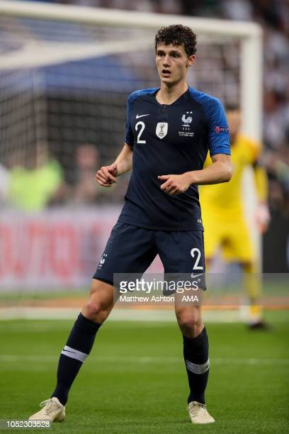 Benjamin Pavard of France during the UEFA Nations League A group one match between France and Germany at Stade de France on October 16 2018 in Paris...