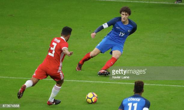 Benjamin Pavard of France in action during the friendly match between France and Wales at Stade de France on November 10 2017 in Paris France