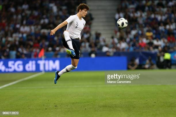 Benjamin Pavard of France in action during the the International Friendly match between France and Italy France wins 31 over Italy