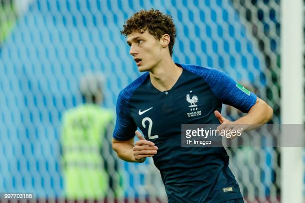 Benjamin Pavard of France looks on during the 2018 FIFA World Cup Russia Semi Final match between France and Belgium at Saint Petersburg Stadium on...