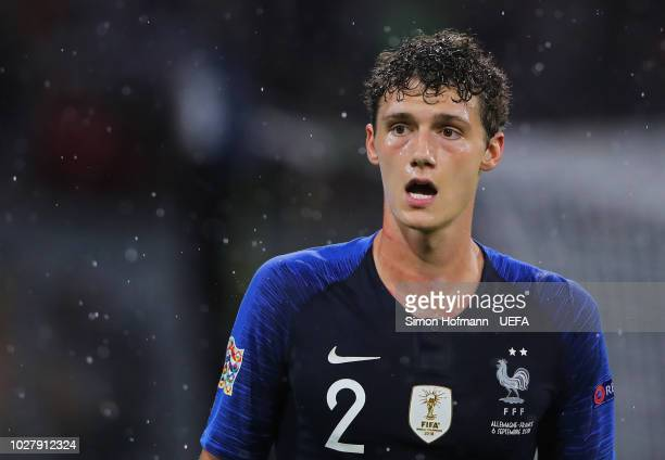 Benjamin Pavard of France looks on during the UEFA Nations League Group A match between Germany and France at Allianz Arena on September 6 2018 in...