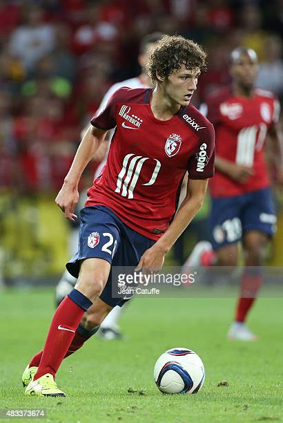 Benjamin Pavard of Lille in action during the French Ligue 1 match between Lille OSC and Paris SaintGermain at Grand Stade Pierre Mauroy on August 7...