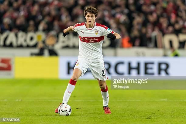 Benjamin Pavard of Stuttgart in action during the second Bundesliga match between VfB Stuttgart and 1 FC Nuernberg at Mercedes Benz Arena on November...