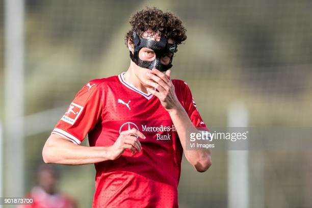 Benjamin Pavard of VFB Stuttgart during the friendly match between FC Twente and VFB Stuttgart at the La Manga Club Resort on January 06 2018 in La...