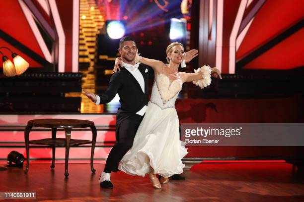 Benjamin Piwko and Isabel Edvardsson perform during the 3rd show of the 12th season of the television competition Let's Dance on April 05 2019 in...