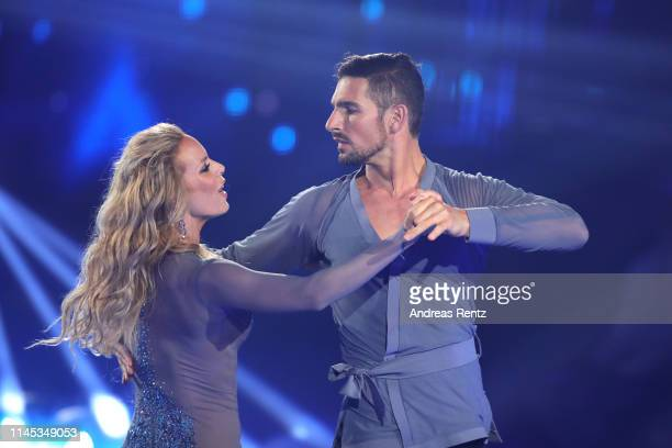 Benjamin Piwko and Isabel Edvardsson perform on stage during the 5th show of the 12th season of the television competition Let's Dance on April 26...