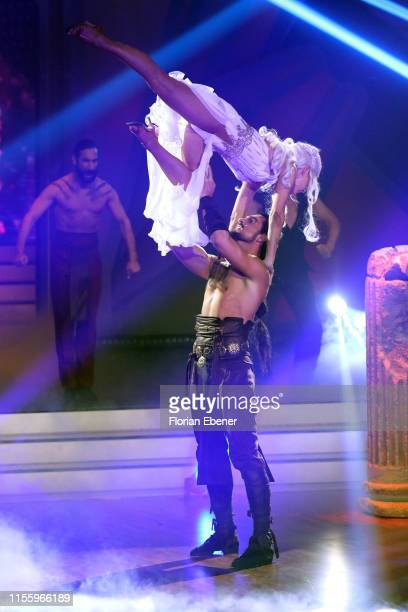 Benjamin Piwko and Isabel Edvardsson perform on stage during the finals of the 12th season of the television competition Let's Dance on June 14 2019...