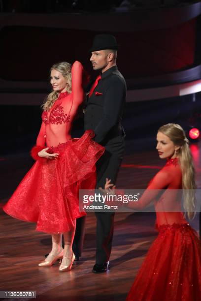 Benjamin Piwko performs on stage during the preshow 'Wer tanzt mit wem Die grosse Kennenlernshow' of the television competition 'Let's Dance' on...