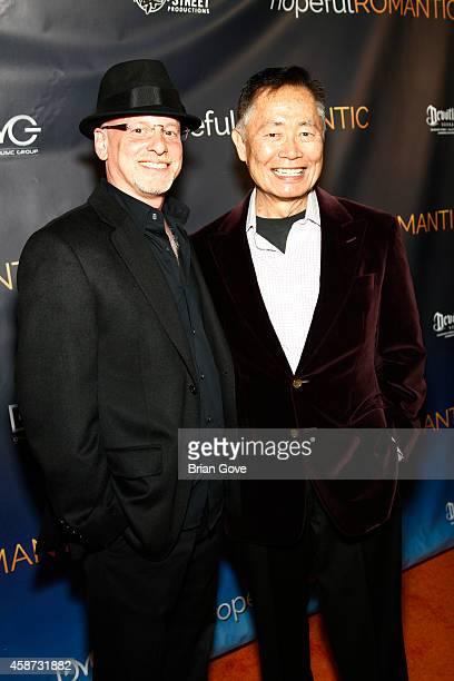 Benjamin Pollack and George Takei attend Matt Zarley's Original Musical Short Film hopefulROMANTIC at American Film Institute on November 9 2014 in...