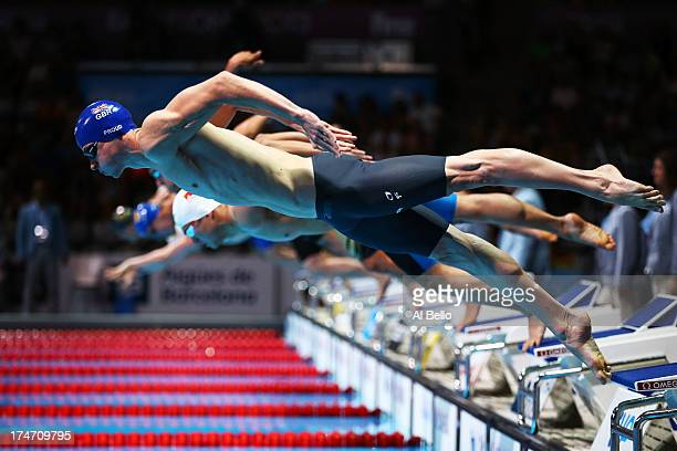 Benjamin Proud of Great Britain competes during the Swimming Men's 50m Butterfly Semifinal 1 on day nine of the 15th FINA World Championships at...