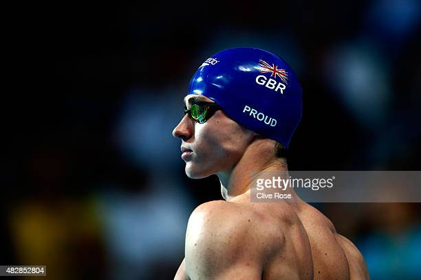 Benjamin Proud of Great Britain prepares to compete in the Men's 50m Butterfly final on day ten of the 16th FINA World Championships at the Kazan...