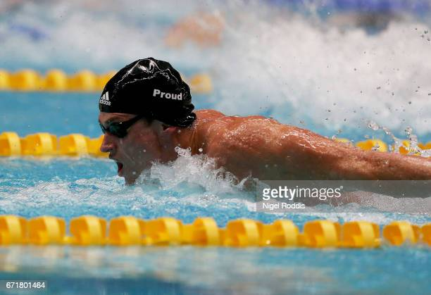 Benjamin Proud of Plymouth LEA competes in the Mens Open 50m ButterflyHeats on day six of the 2017 British Swimming Championships at Ponds Forge on...