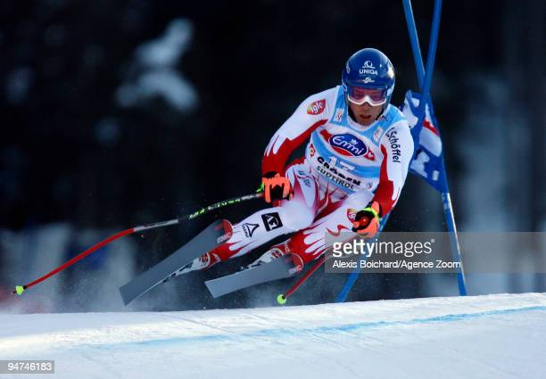 Benjamin Raich of Austria during the Audi FIS Alpine Ski World Cup Men's Super G on December 18 2009 in Val Gardena Italy