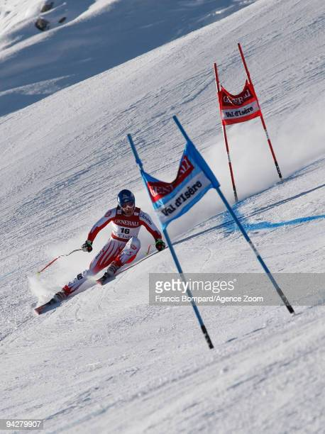 Benjamin Raich of Austria takes 1st place during the Audi FIS Alpine Ski World Cup Men's Super Combined on December 11 2009 in Val d'Isere France