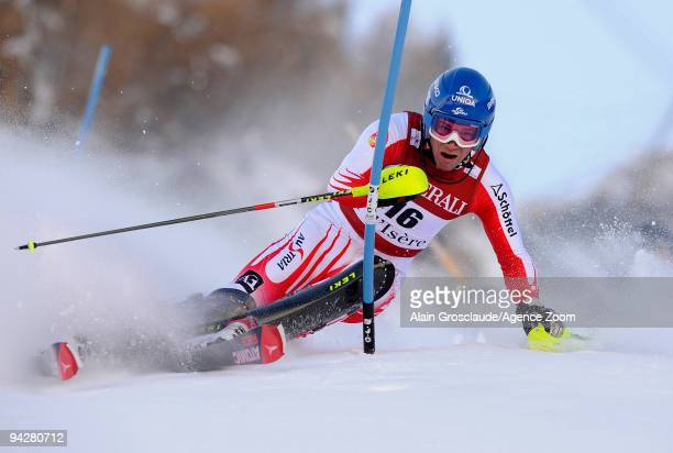 Benjamin Raich of Austria takes 1st place during the Audi FIS Alpine Ski World Cup Men's Super Combined on December 11 2009 in Val dÕIsere France