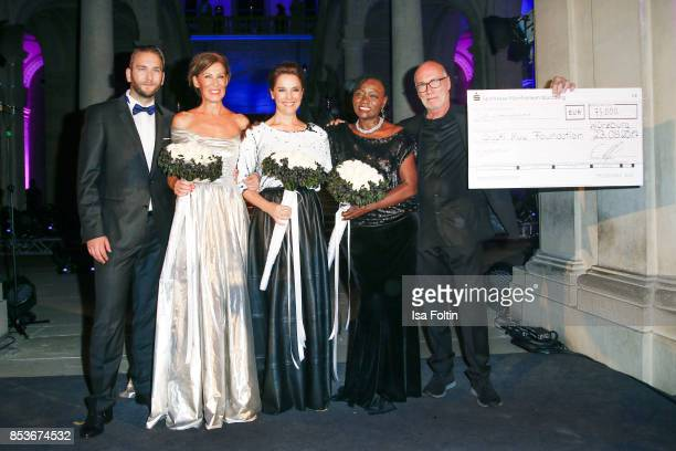 Benjamin Rohde Minx Designer Eva Lutz Luxembourgian presenter Desiree Nosbusch Auma Obama halfsister of former US president Barack Obama and Hans...