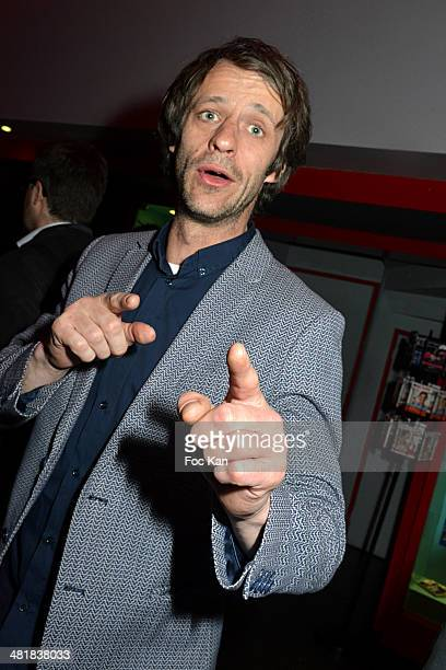 Benjamin Rolland attends the 300th performance of Berangere Krief at the Theater Bobino on March 31 2014 in Paris France