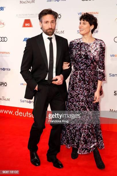 Benjamin Sadler and Jasmin Gerat attend the German Film Ball 2018 at Hotel Bayerischer Hof on January 20 2018 in Munich Germany