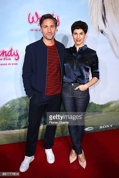 Benjamin Sadler and Jasmin Gerat attend the premiere of 'Wendy Der Film' at Cinedom on January 15 2016 in Cologne Germany