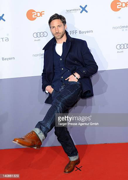 Benjamin Sadler attends the premiere of 'Muenchen 72 Das Attentat' at Astor Film Lounge on March 7 2012 in Berlin Germany
