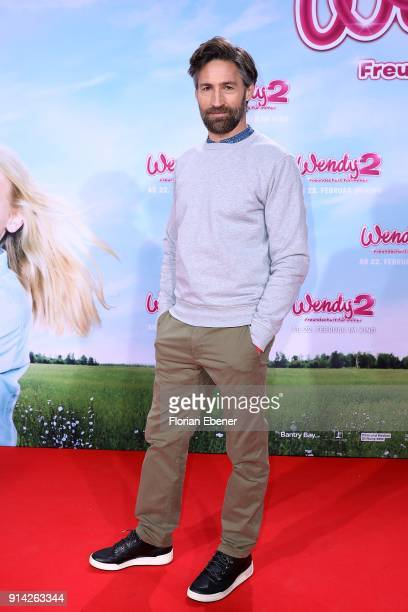 Benjamin Sadler attends the premiere of 'Wendy 2 Der Film' at Cinedom on February 4 2018 in Cologne Germany
