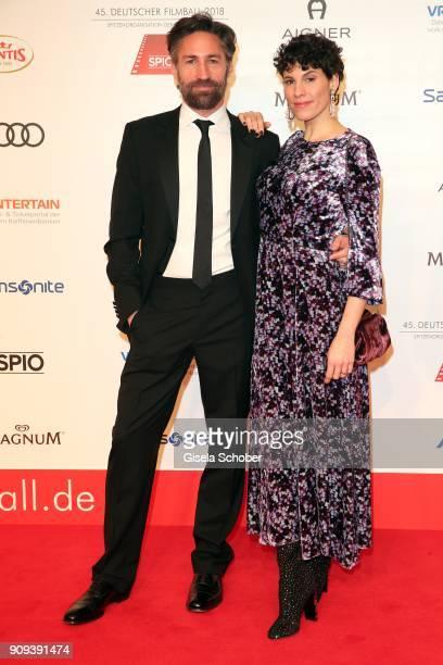 Benjamin Sadler Jasmin Gerat during the German Film Ball 2018 at Hotel Bayerischer Hof on January 20 2018 in Munich Germany