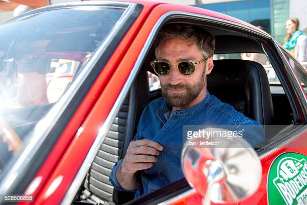 Benjamin Sadler poses for a picture during the 5th Bodensee Klassik rallye at Festspielhaus on May 5 2016 in Bregenz Austria