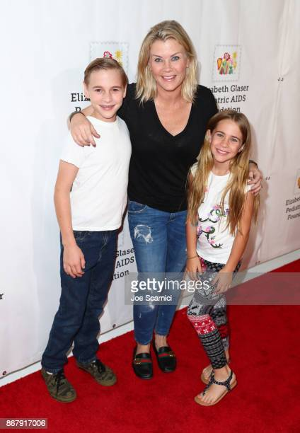 Benjamin Sanov Alison Sweeney and Megan Sanov at The Elizabeth Glaser Pediatric AIDS Foundation's 28th annual 'A Time For Heroes' family festival at...