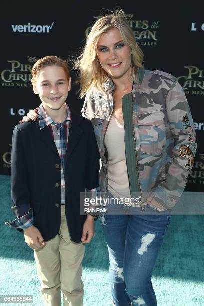 """Benjamin Sanov and Actor Alison Sweeney at the Premiere of Disney's and Jerry Bruckheimer Films' """"Pirates of the Caribbean Dead Men Tell No Tales"""" at..."""