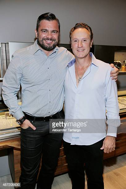 Benjamin Seres and Eduardo Rojo are seen at David Yurman InStore Shopping Event Hosted by Randy Starks To Benefit The Florida Breast Cancer...