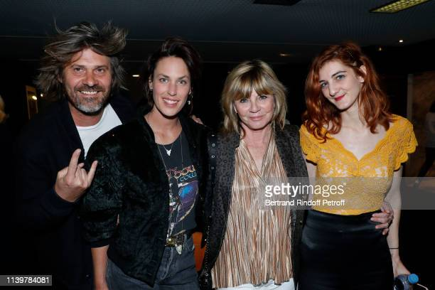 Benjamin Seznec Julie Fournier Evelyne Gelin and her daughter Sarah Gelin attend the Mon Inconnue Paris Premiere at Cinema UGC Normandie on April 01...
