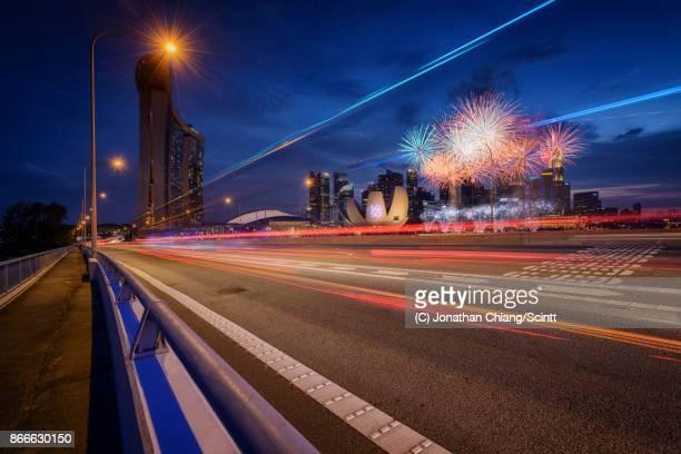 Benjamin Sheares Bridge Fireworks
