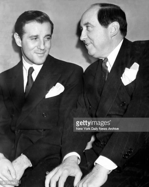 Benjamin Siegel with his attorney Jerry Giesler