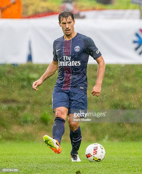 Benjamin Stambouli of Paris St Germain seen during a friendly match against West Bromwich Albion on July 13 2016 in Schladming Austria