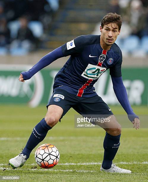 Benjamin Stambouli of PSG in action during the French Cup match between ES Wasquehal and Paris SaintGermain at Stadium Lille Metropole on January 3...
